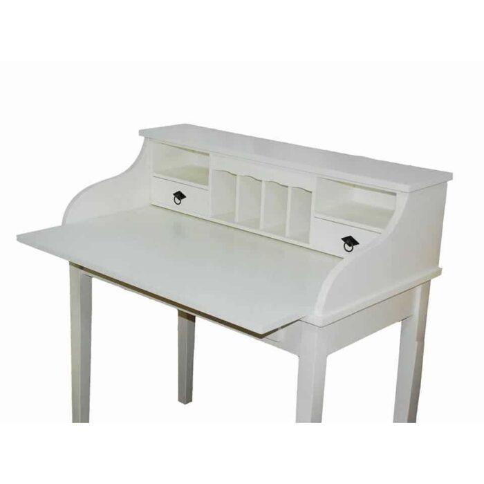 Masă birou albă tip scrin