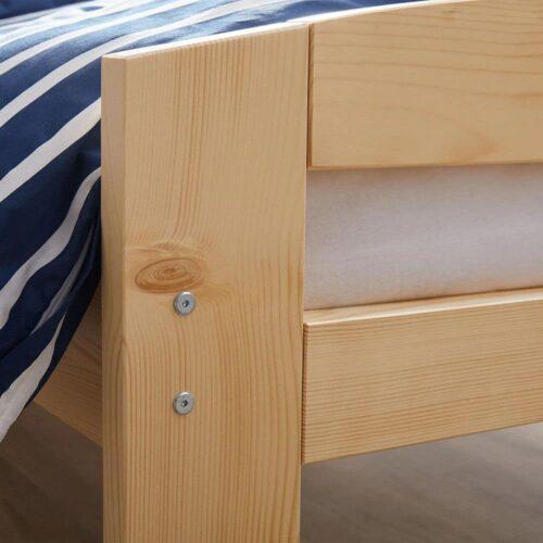 Pat dormitor Erling lemn masiv brad - detaliu